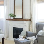 Living Room Modern Farmhouse Window Treatments Novocom Top