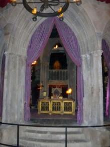 Dentro do Castelo de Hogwarts.