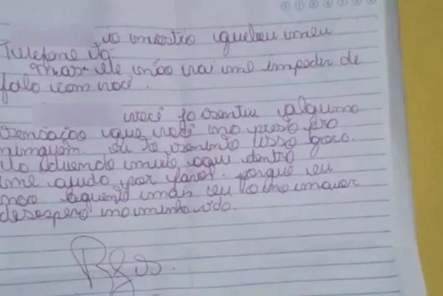 La carta escrita a mano del adolescente brasileño le proporcionó la ayuda que necesitaba.