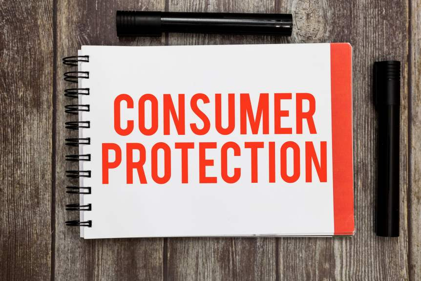 Word Writing Text Consumer Protection. Business Concept For Fair