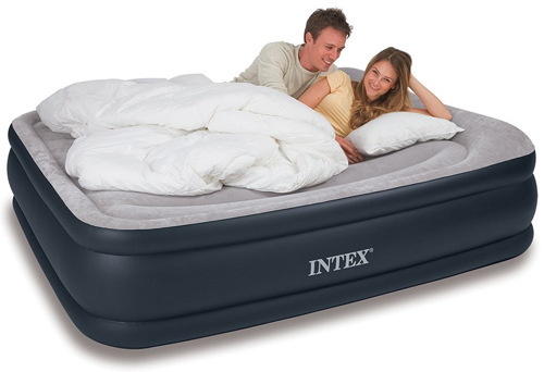 7. Intex Deluxe Pillow Rest Raised Airbed