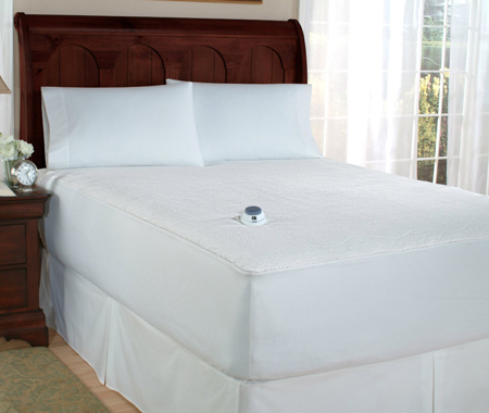 7. Low-voltage electric heated queen mattress pad