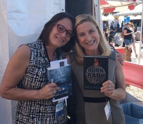 Meg Medina and Ruta Sepetys at the 2016 Tucson Festival of Books