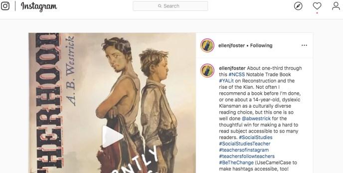 Instagram post by Ellen J. Foster, 12/27/19