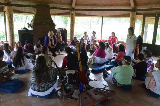 Rev. Elizabeth Reed sharing the Aramaic work in Guadalajara, Mexico, September 2014