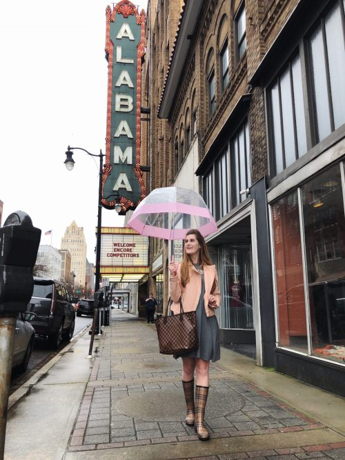 birmingham alabama things to do in | birmingham Alabama | birmingham alabama restaurants | rainy day outfit | rain boots outfit | burberry rain boots | burberry rain boots outfit | burberry rain boots blush | blush and rainboots