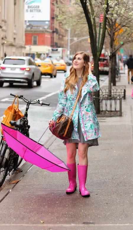 Joules Golightly Waterproof Pack-a-Way Rain Jacket