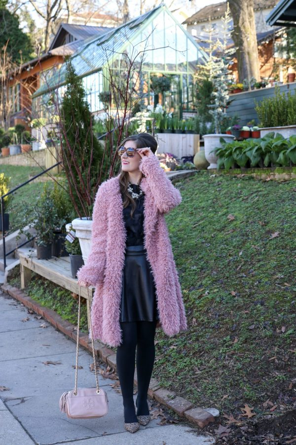 Waterfall Collar Solid Teddy Coat   Shein Waterfall Collar Solid Teddy Coat   Shen Fringe Patch Mesh Top  blush and pink outfit   valentines day outfit   valentines day outfit casual   valentines day outfit woman   pink teddy coat   pink teddy coat outfit   pink teddy coat street style