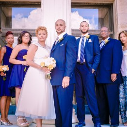 Toledo Art Museum Wedding Party Portrait