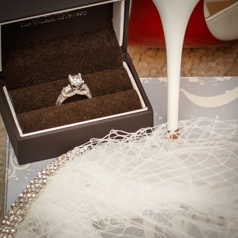 Wedding Ring and Louboutin Heels