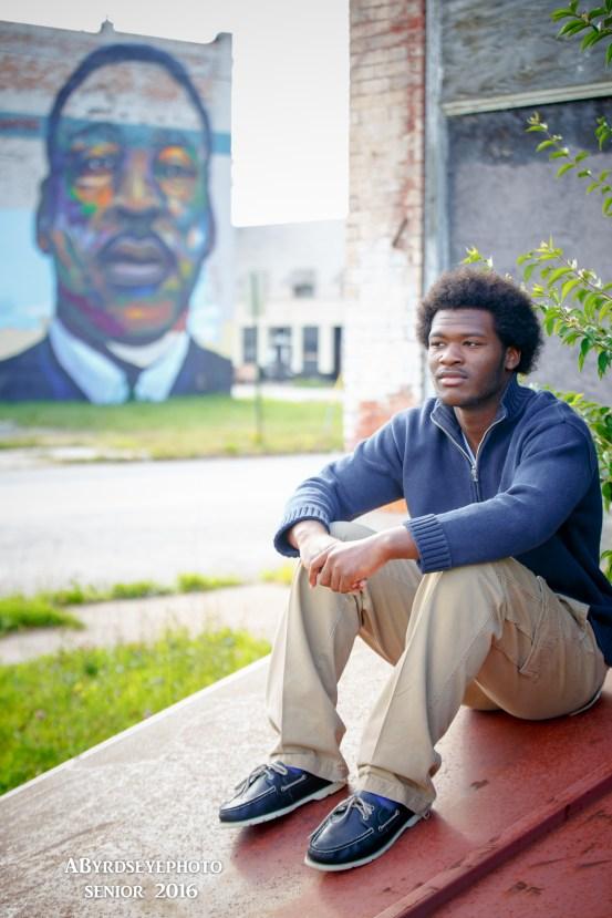 Senior Portrait MLK Mural