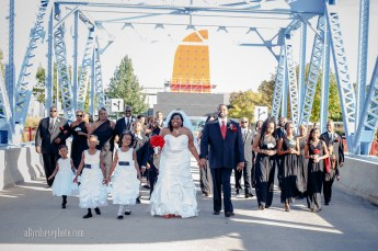 Downtown Toledo Wedding Party Portrait