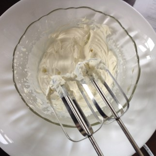 Whisk the cream