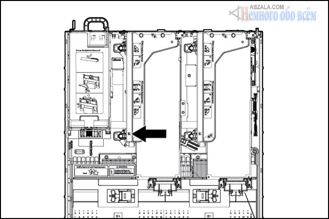 Светодиоды корзины PCI райзер сервера HP ProLiant DL380p Gen8