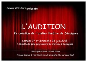 affiche l'audition