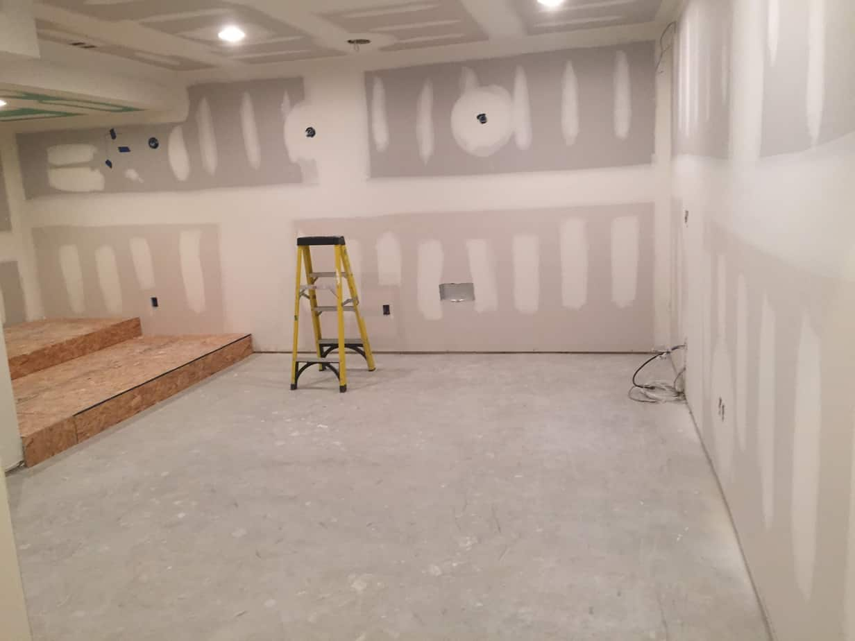 Residential Basement Buildout And Remodel In Flanders New