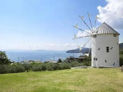 小豆島,ジブリ,ロケ地,オリーブ,風車