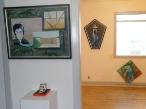 Kunstudstilling, surrealisme, A.C.Rosmon,maleri, artmoney, blå mænd Merlin, længere end øjet rækker