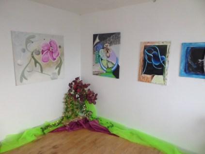 Kunstudstilling, surrealisme, A.C.Rosmon,blomster, udstilling