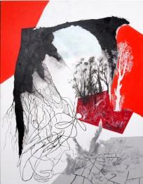 tød,sort, A.C.Rosmon, surrealisme, hvid,akrylmaleri, maleri,