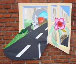 ikke firkantet maleri, surrealisme,veje, A.C.Rosmon,