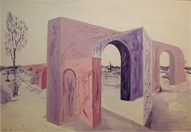 perspekti,A.C.Rosmon, Lilla, violet, ,akrylmaleri