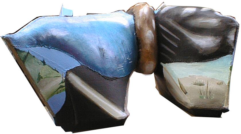 pakken,A.C.Rosmon, surrealisme, skulpturelt maleri,3-D,
