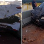 Motorista causa acidente ao parar e tirar foto na Ponte do Madeira