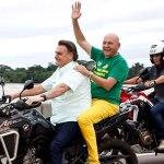 "Na Ponte do Rio Madeira, Luciano Hang ganha ""carona"" de Bolsonaro"