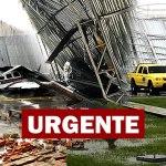 Forte temporal derruba hangar sobre avião e helicóptero no Acre