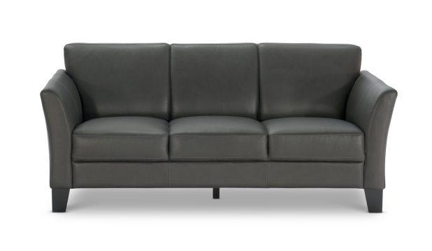 Benji Leather Sofa Hom Furniture S In. sleek leather sofa   Centerfieldbar com