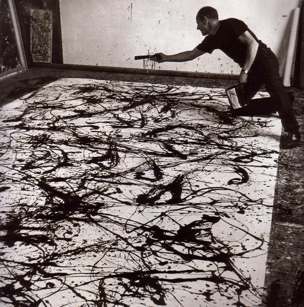 Jackson Pollock photographié par Hans Namuth