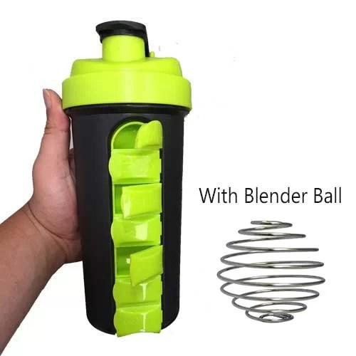 Capsule Cabinet Shaker Bottle with blender ball