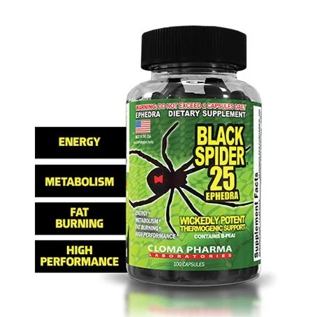 Cloma Pharma Black Spider Fat Burner 100 Caps-1053