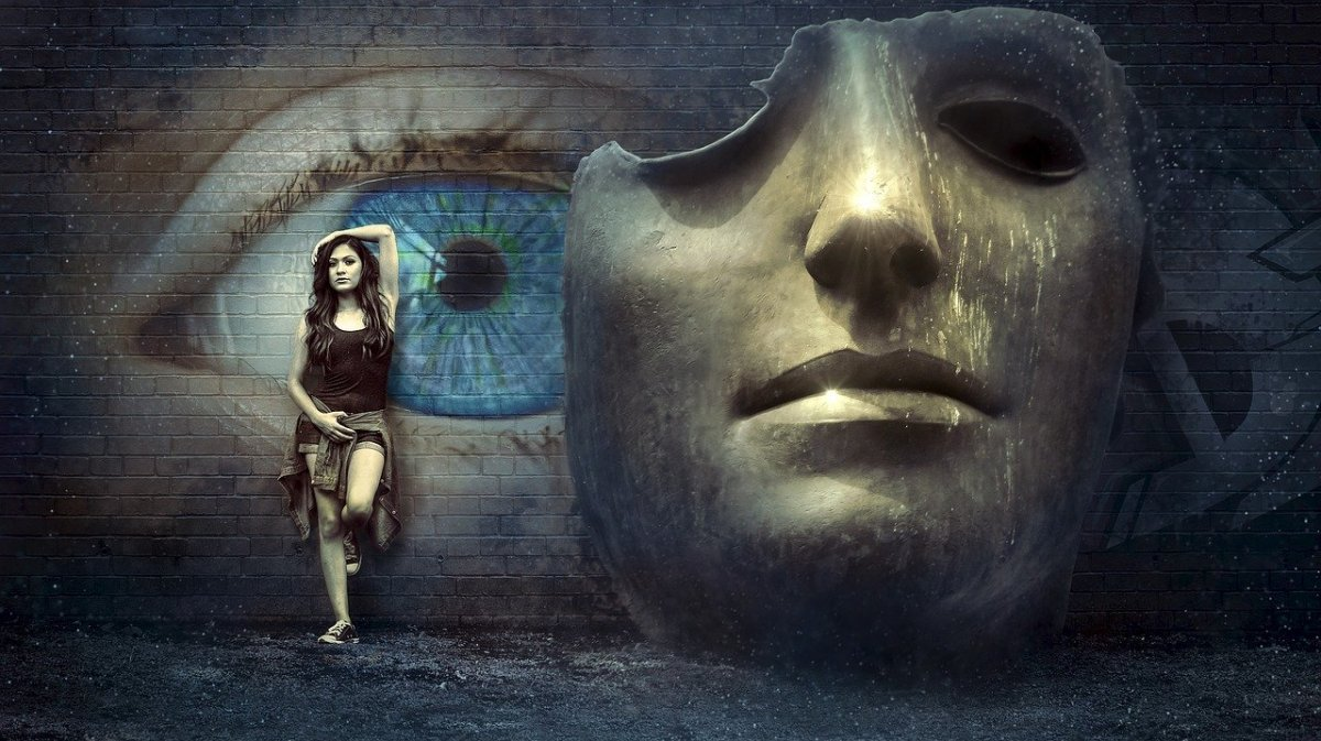 fantasy, surreal, mask