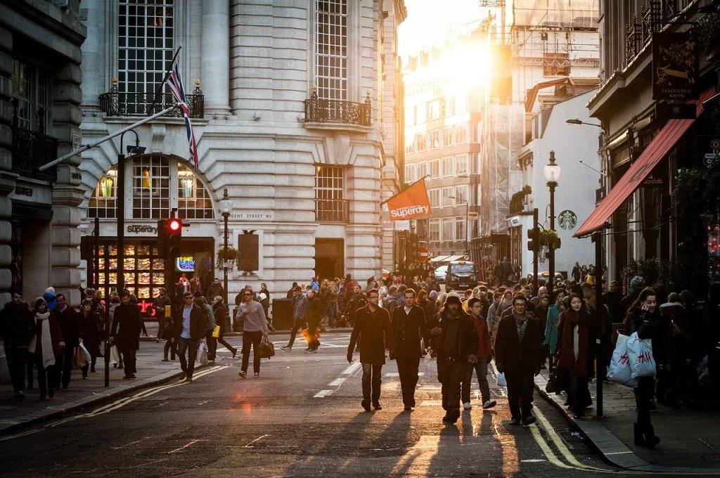 urban, people, crowd
