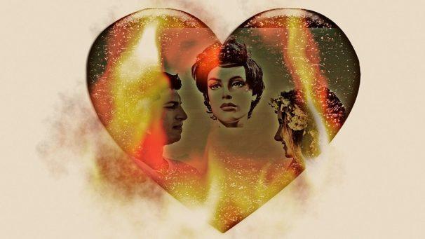 love triangle, love, heart