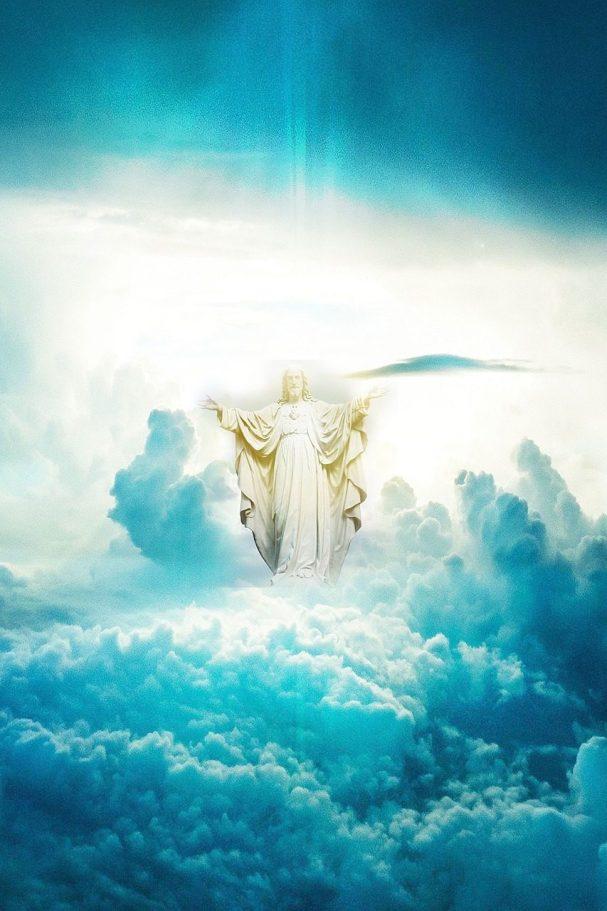 heaven, jesus, clouds