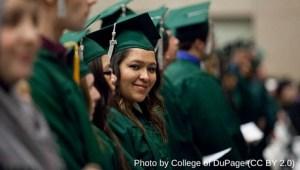 smiling woman at graduation