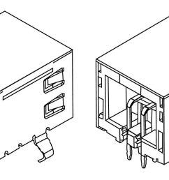 usb socket datasheet diagram  [ 1280 x 640 Pixel ]