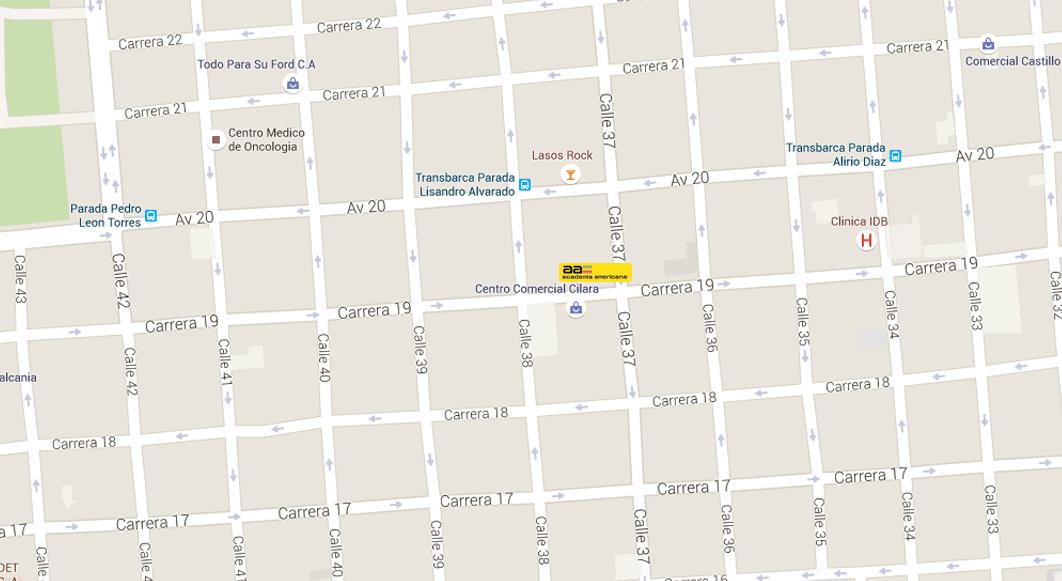 Barquisimeto Carrera 19 con Calle 37 lado Norte , Edif. Americana Carrera 20 lado Norte , Edif. Americana Telfs: 0251-445.48.35 / 0251-446.01.02