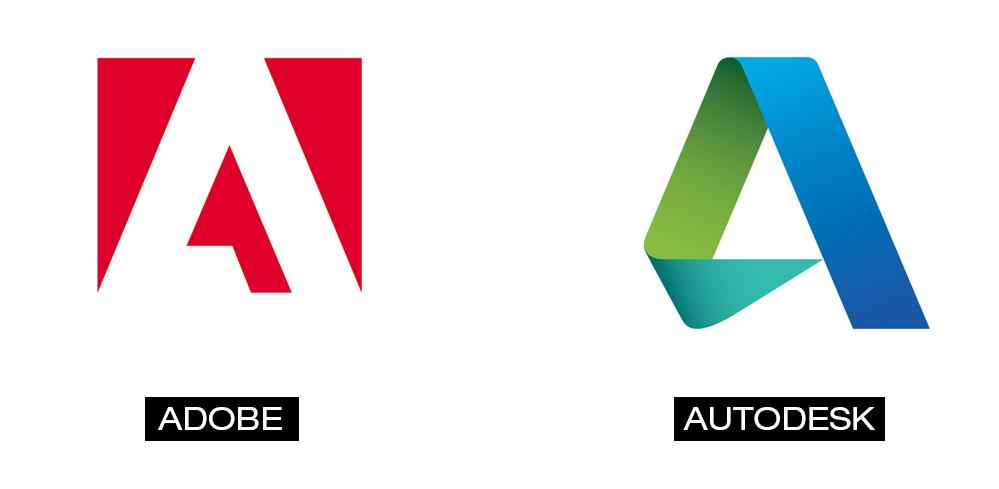 Logos de Adobe y Autodesk