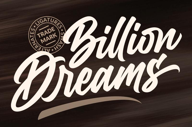 Las mejores fuentes gratis para descargar billion dreams