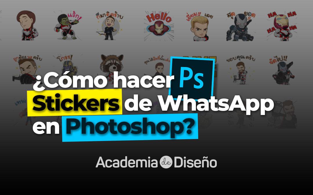 Cómo Hacer Stickers De Whatsapp En Photoshop Academia De Diseño