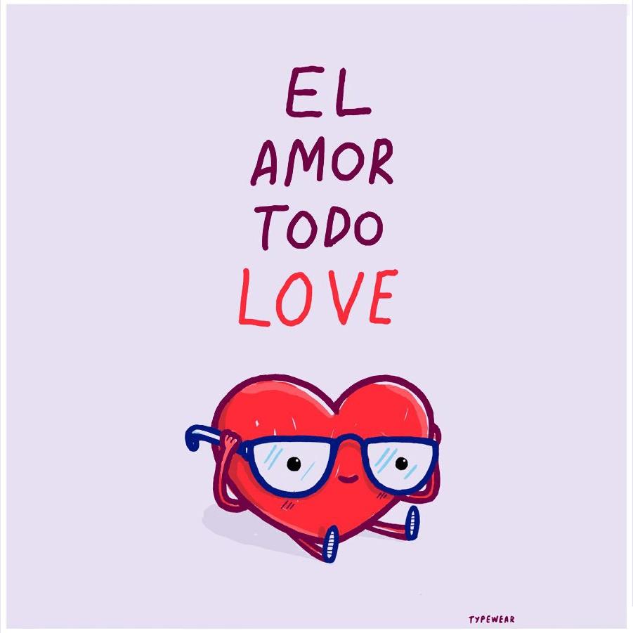 el amor todo lo ve typewear