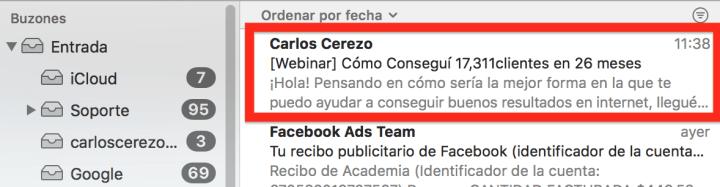 Título efectivo para Email Marketing