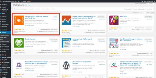 Google Tag Manager para WordPress