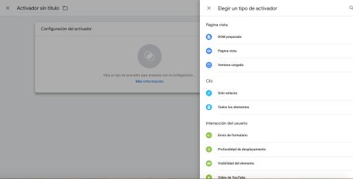 Activadores en Google Tag Manager