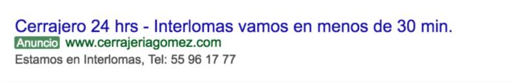 Anuncio efectivo en Google Ads