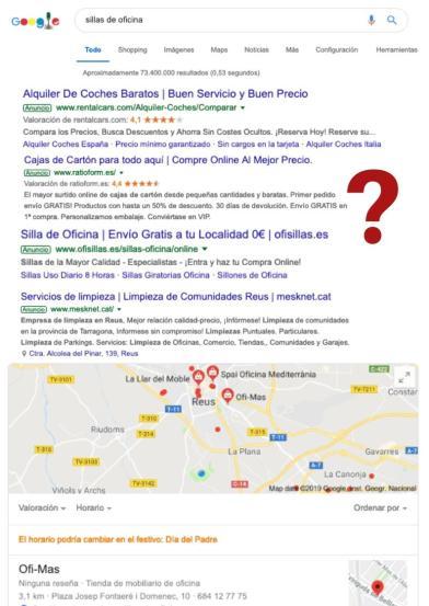 Ejemplo de Publicidad en Google Ads